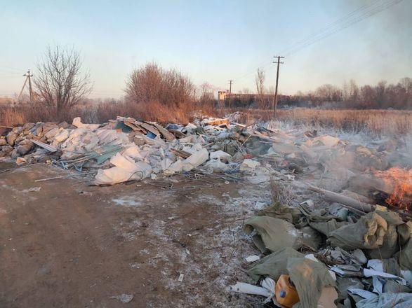 Нижегородцы пожаловались на горящую свалку около станции аэрации - фото 4