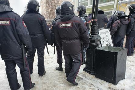 40 нижегородцев задержали на несанкционированном митинге