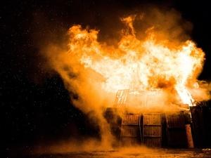 Жилой дом потушили силами десяти пожарных в Пильнинском районе