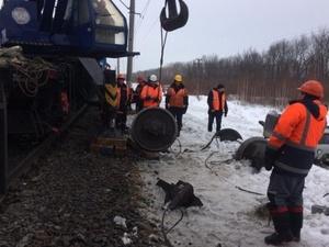 Грузовой вагон сошел с рельс в Нижегородской области
