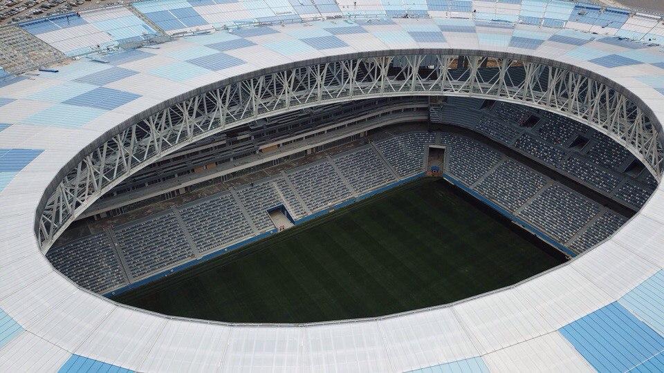 Прошивка газона завершена настадионе «Нижний Новгород»