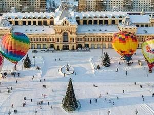 В Нижнем Новгороде проходит «Рождественская фиеста» воздушных шаров