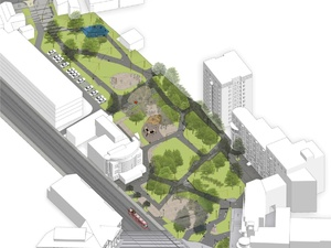 Сквер Свердлова на Большой Покровской расширят: там появится амфитеатр и детская площадка