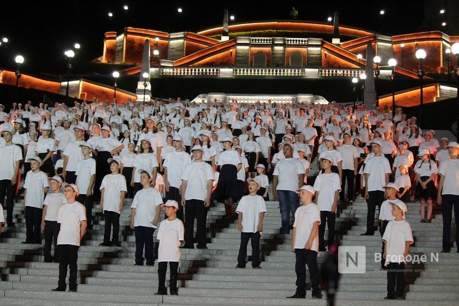Хор из 800 голосов спел на Чкаловской лестнице - фото 1