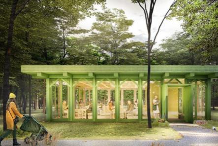 Читальню возродят в парке «Швейцария»
