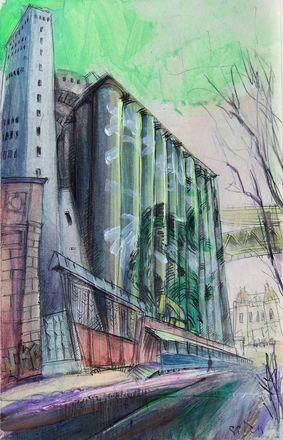 Элеватор на Черниговской появился на картинах дзержинского художника - фото 5