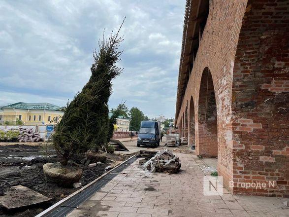 Еловый сквер благоустраивают в Нижегородском кремле - фото 4