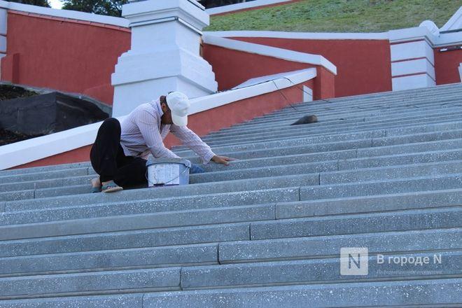 Чкаловскую лестницу открыли, несмотря на продолжающиеся ремонтные работы - фото 55