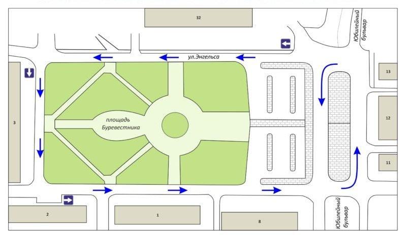 Круговое движение вводится около площади Буревестника в Нижнем Новгороде - фото 1